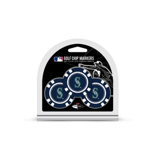 Seattle Mariners Golf Chip with Marker 3 Pack - Special Order
