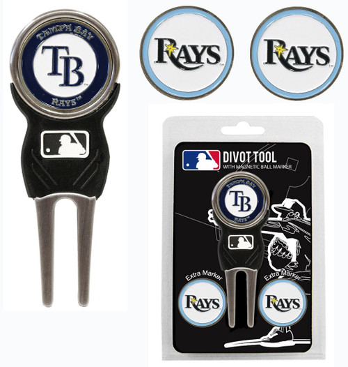 Tampa Bay Rays Golf Divot Tool with 3 Markers - Special Order