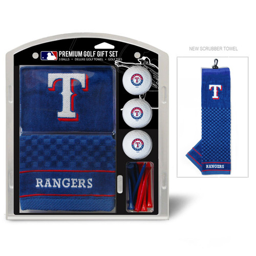 Texas Rangers Golf Gift Set with Embroidered Towel - Special Order