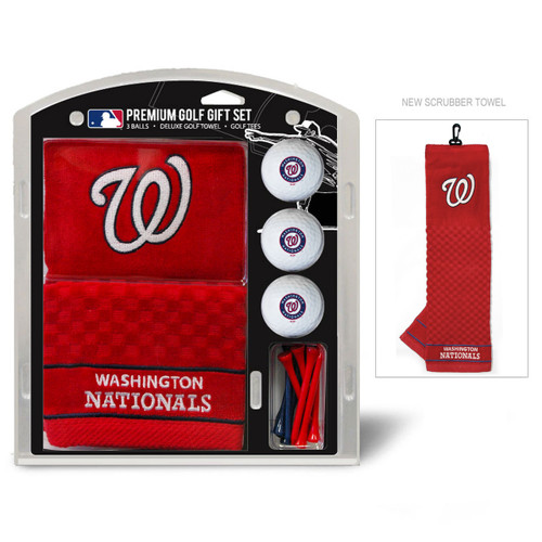 Washington Nationals Golf Gift Set with Embroidered Towel - Special Order