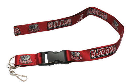 Alabama Crimson Tide Lanyard - Breakaway with Key Ring