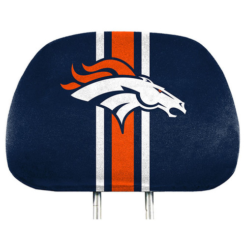 Denver Broncos Headrest Covers Full Printed Style - Special Order