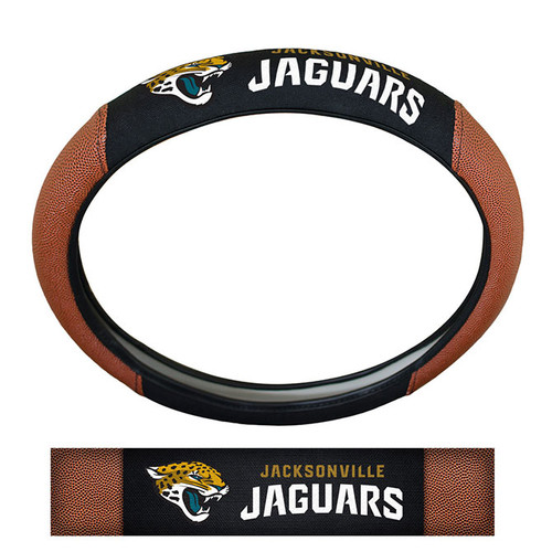 Jacksonville Jaguars Steering Wheel Cover - Premium Pigskin - Special Order