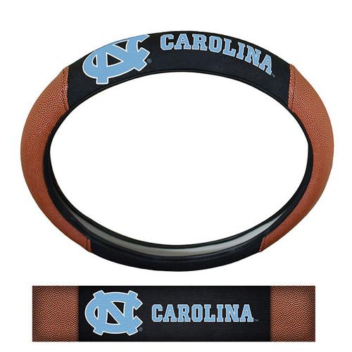 North Carolina Tar Heels Steering Wheel Cover - Premium Pigskin - Special Order