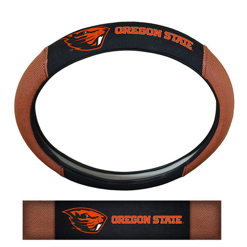 Oregon State Beavers Steering Wheel Cover - Premium Pigskin - Special Order