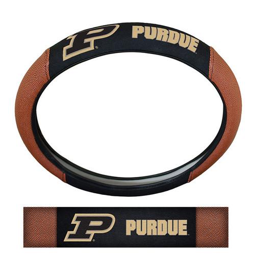 Purdue Boilermakers Steering Wheel Cover - Premium Pigskin - Special Order