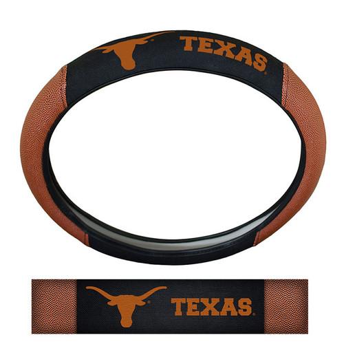 Texas Longhorns Steering Wheel Cover - Premium Pigskin - Special Order