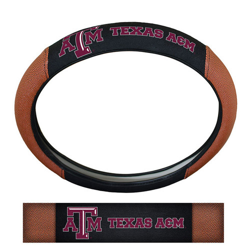 Texas A&M Aggies Steering Wheel Cover - Premium Pigskin - Special Order