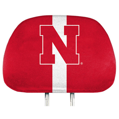 Nebraska Cornhuskers Headrest Covers Full Printed Style - Special Order