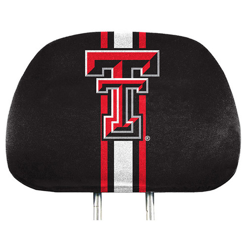 Texas Tech Red Raiders Headrest Covers Full Printed Style - Special Order