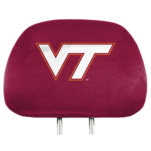 Virginia Tech Hokies Headrest Covers Full Printed Style - Special Order