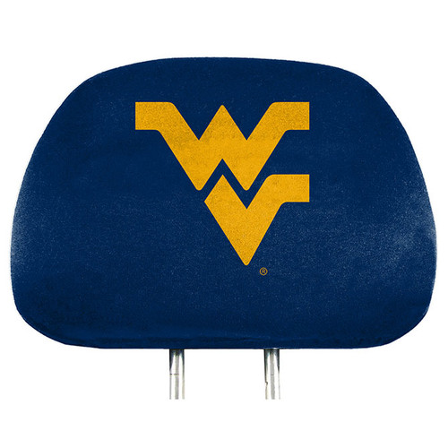 West Virginia Mountaineers Headrest Covers Full Printed Style - Special Order
