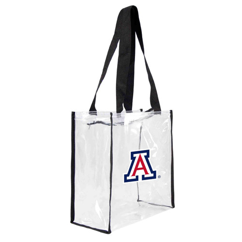 Arizona Wildcats Clear Square Stadium Tote - Special Order