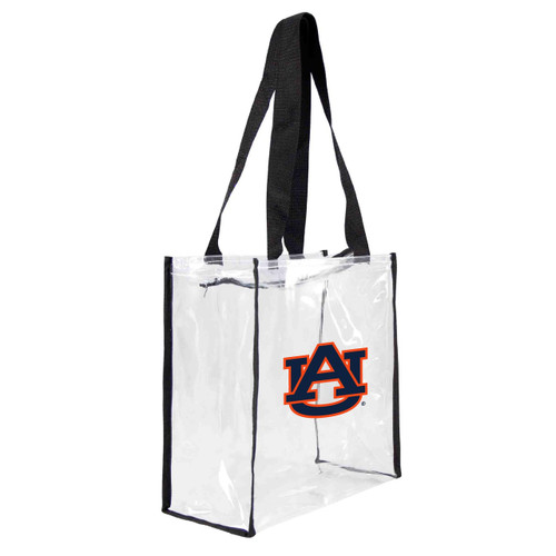 Auburn Tigers Clear Square Stadium Tote - Special Order