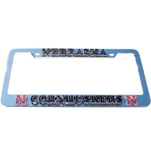 Nebraska Cornhuskers Deluxe Metal License Plate Frame - Special Order