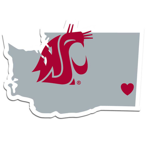 Washington State Cougars Decal Home State Pride Style - Special Order