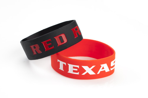 Texas Tech Red Raiders Bracelets - 2 Pack Wide - Special Order