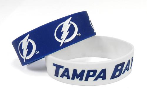 Tampa Bay Lightning Bracelets - 2 Pack Wide - Special Order