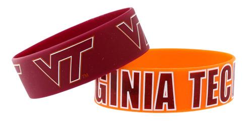 Virginia Tech Hokies Bracelets - 2 Pack Wide - Special Order