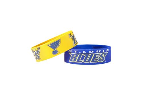 St. Louis Blues Bracelets - 2 Pack Wide - Special Order