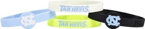 North Carolina Tar Heels Bracelets - 4 Pack Silicone - Special Order