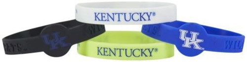 Kentucky Wildcats Bracelets - 4 Pack Silicone - Special Order