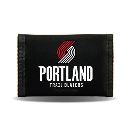 Portland Trail Blazers Wallet Nylon Trifold - Special Order