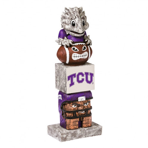 TCU Horned Frogs Tiki Totem