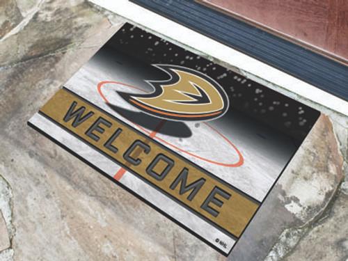 Anaheim Ducks Door Mat 18x30 Welcome Crumb Rubber - Special Order