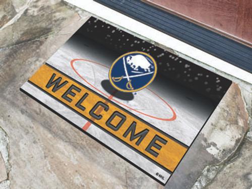 Buffalo Sabres Door Mat 18x30 Welcome Crumb Rubber - Special Order
