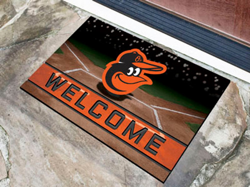 Baltimore Orioles Door Mat 18x30 Welcome Crumb Rubber - Special Order
