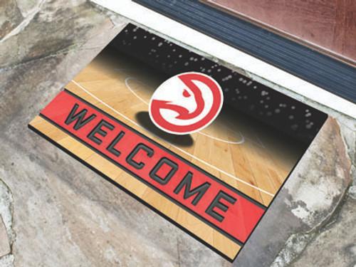 Atlanta Hawks Door Mat 18x30 Welcome Crumb Rubber - Special Order