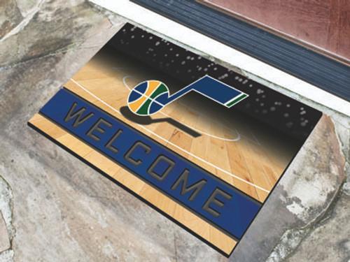 Utah Jazz Door Mat 18x30 Welcome Crumb Rubber - Special Order