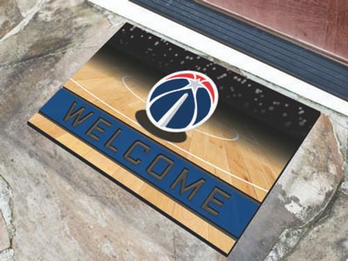 Washington Wizards Door Mat 18x30 Welcome Crumb Rubber - Special Order