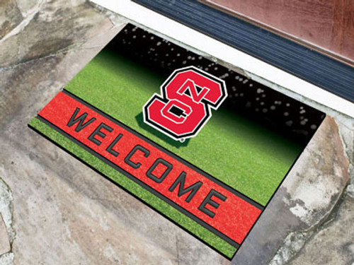 North Carolina State Wolfpack Door Mat 18x30 Welcome Crumb Rubber - Special Order