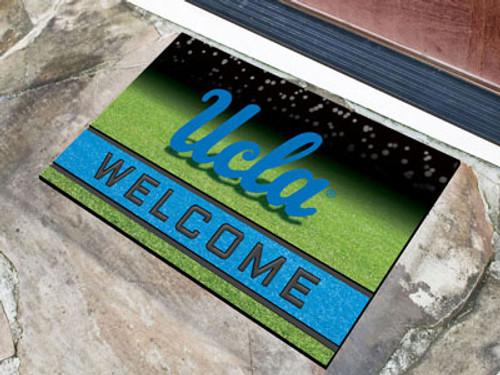 UCLA Bruins Door Mat 18x30 Welcome Crumb Rubber - Special Order