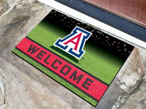 Arizona Wildcats Door Mat 18x30 Welcome Crumb Rubber - Special Order