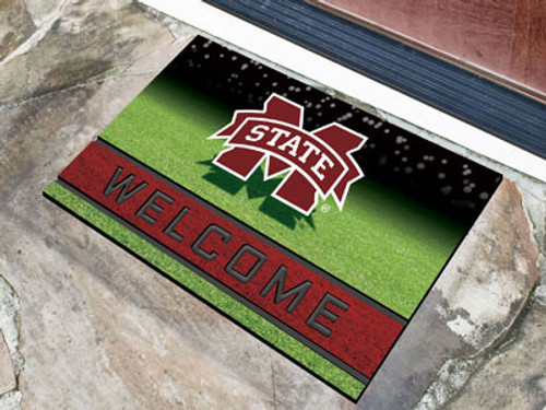 Mississippi State Bulldogs Door Mat 18x30 Welcome Crumb Rubber - Special Order