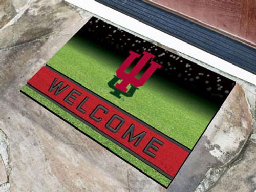 Indiana Hoosiers Door Mat 18x30 Welcome Crumb Rubber - Special Order