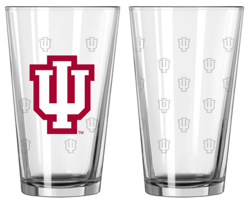 Indiana Hoosiers Satin Etch Pint Glass Set - Special Order