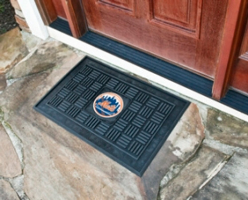New York Mets Door Mat Medallion 19x30 - Special Order