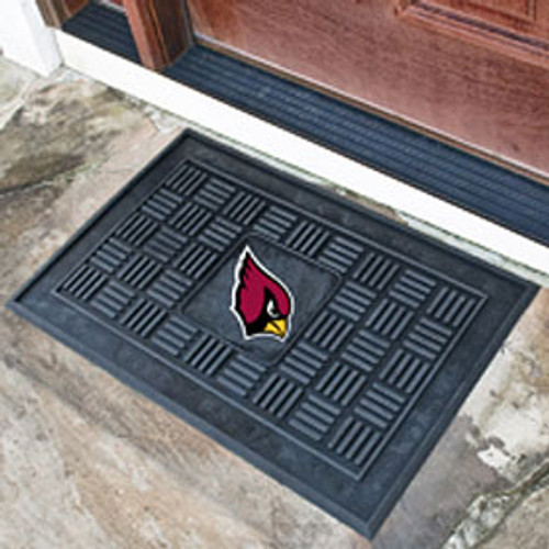 Arizona Cardinals Door Mat Medallion 19x30 - Special Order