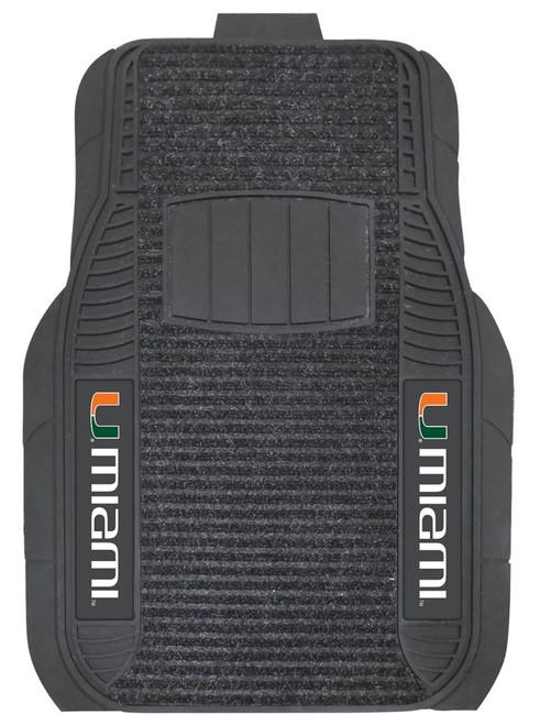 Miami Hurricanes Car Mats - Deluxe Set