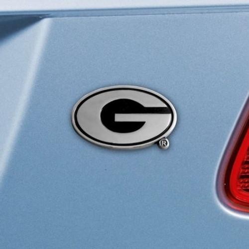 Georgia Bulldogs Auto Emblem Premium Metal Chrome