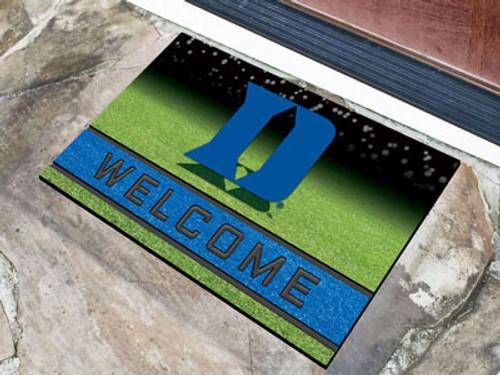 Duke Blue Devils Door Mat 18x30 Welcome Crumb Rubber - Special Order