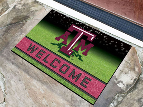 Texas A&M Aggies Door Mat 18x30 Welcome Crumb Rubber - Special Order