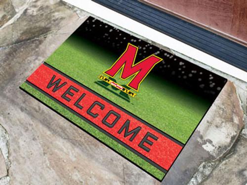Maryland Terrapins Door Mat 18x30 Welcome Crumb Rubber - Special Order