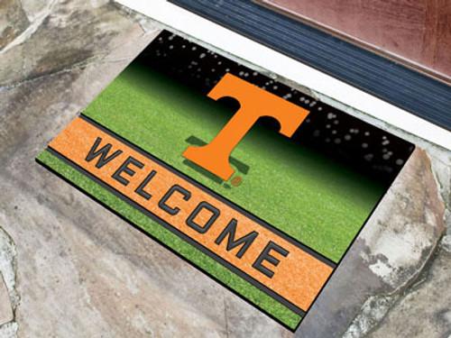 Tennessee Volunteers Door Mat 18x30 Welcome Crumb Rubber - Special Order