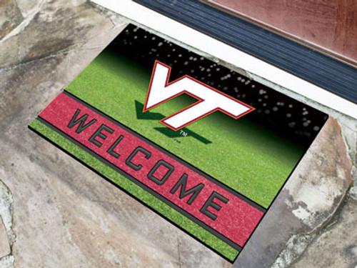 Virginia Tech Hokies Door Mat 18x30 Welcome Crumb Rubber - Special Order