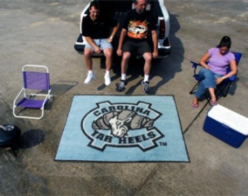 North Carolina Tar Heels Area Rug - Tailgater, Logo Design - Special Order